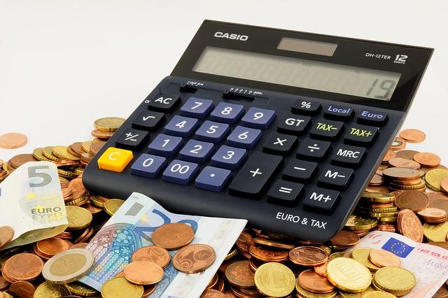 výpočet na kalkulačce