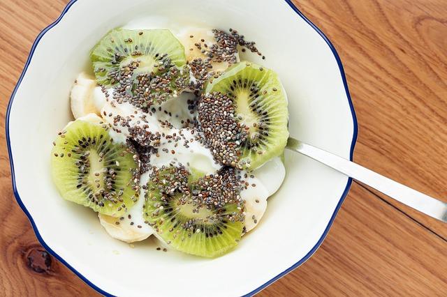 jogurt s kiwi